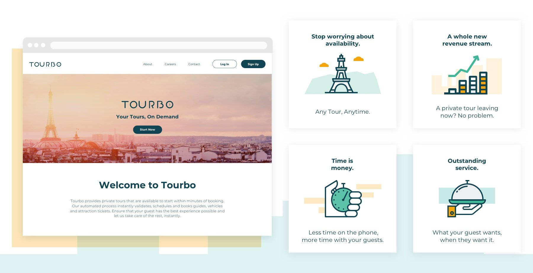 Tourbo app by hello design