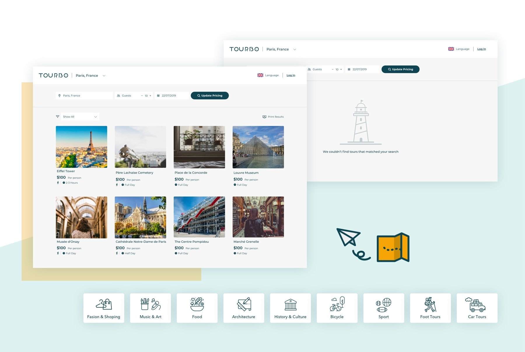 Tourbo app by hello design