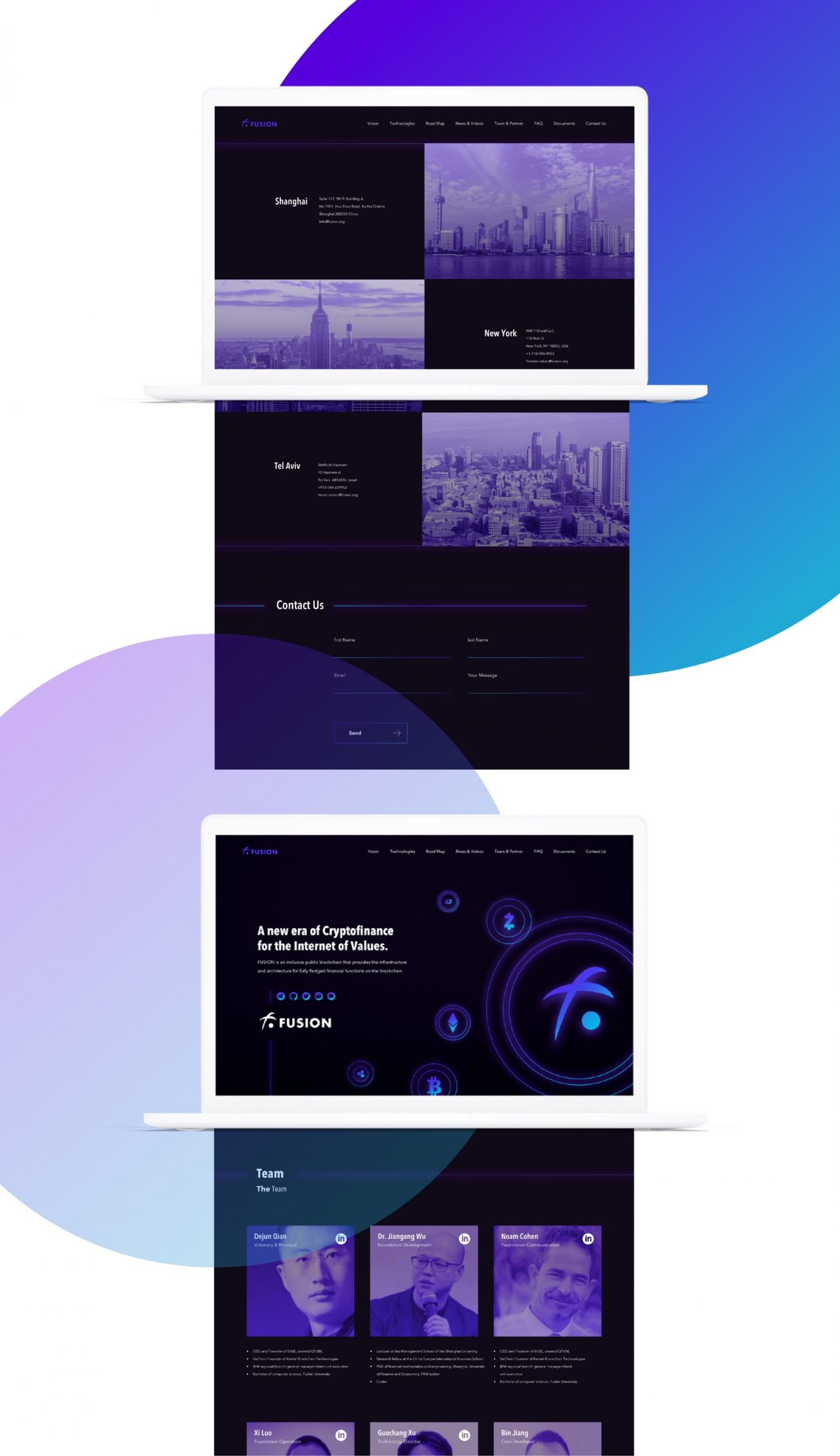 Fusion website design by hello.