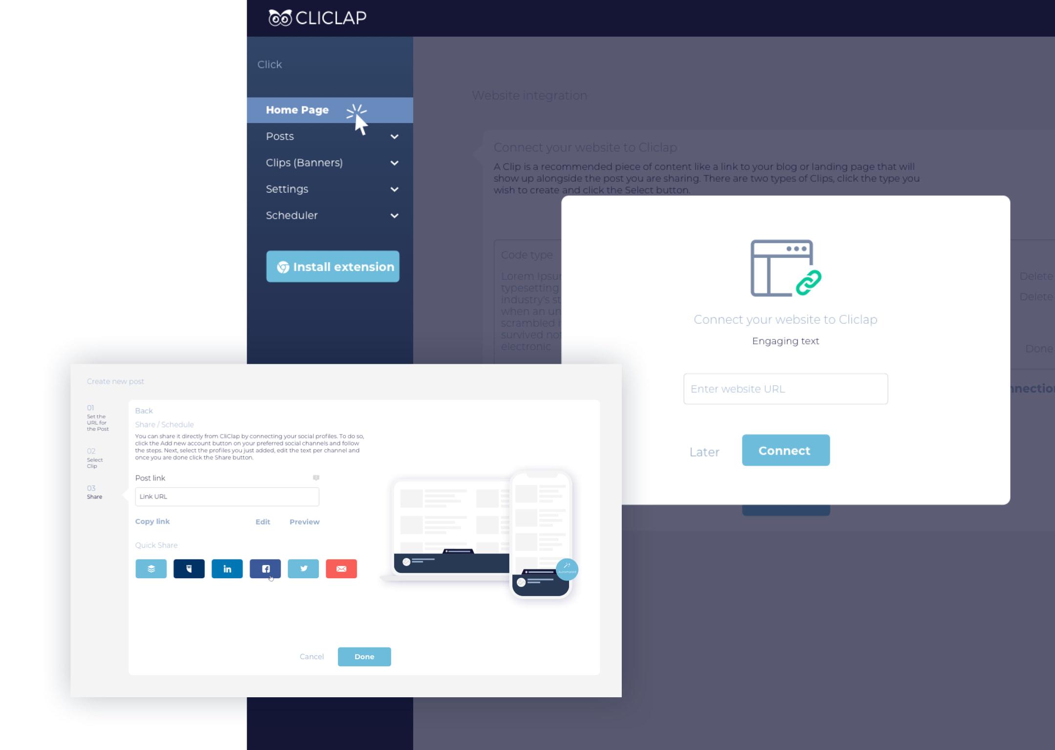 Cliclap product design