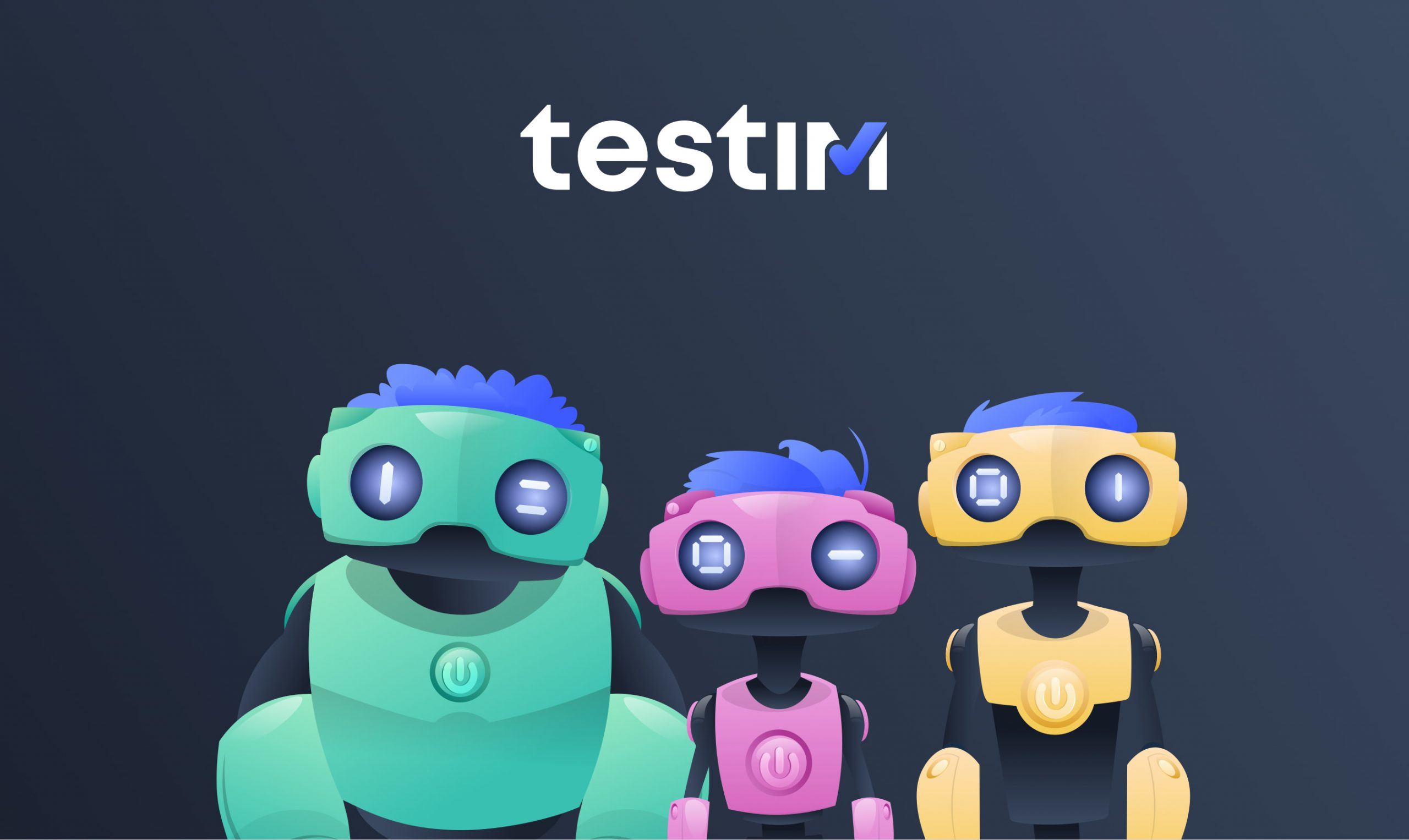 Testim.io marketing design
