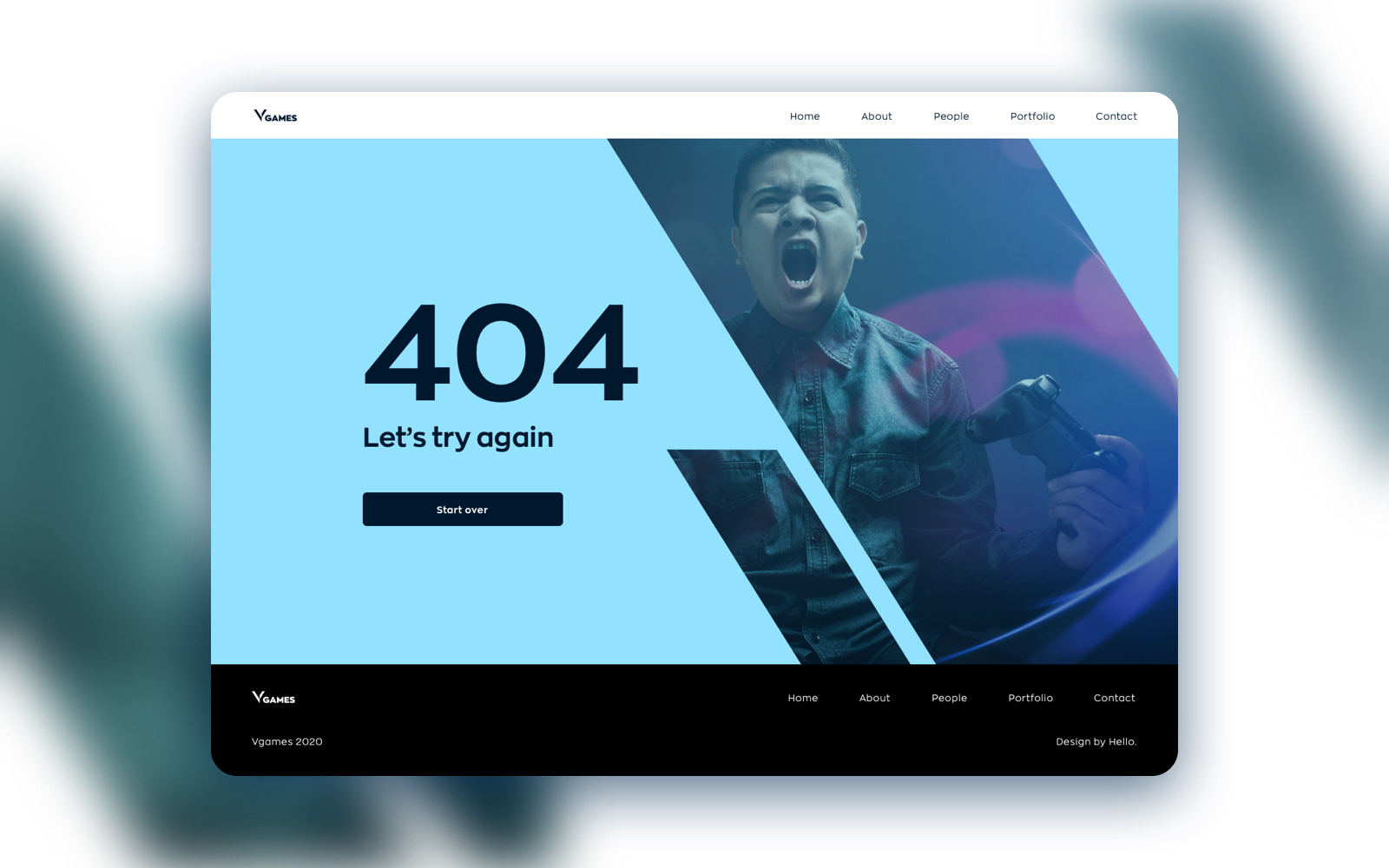 Vgames website UX UI design and development by hello.