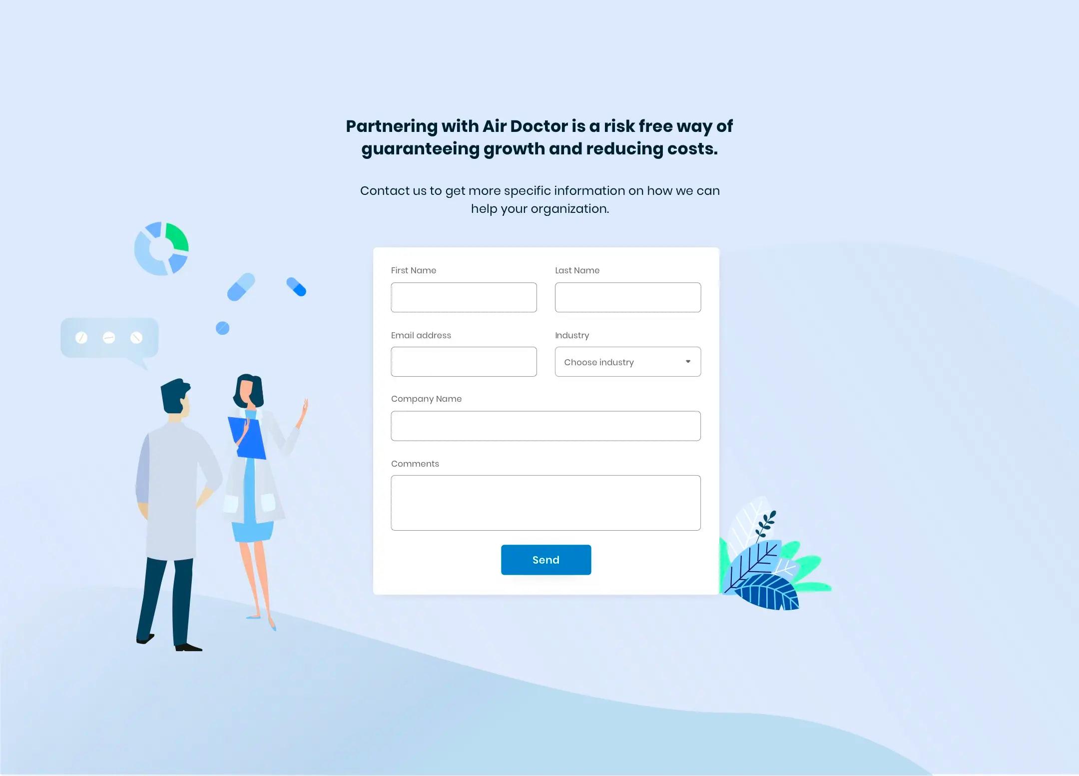 Air Doctor website UX UI design