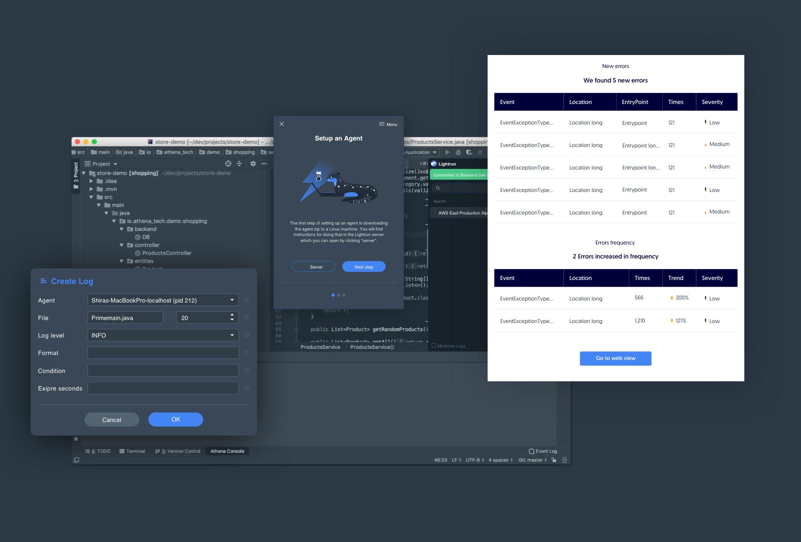 Lightrun product UX-UI design